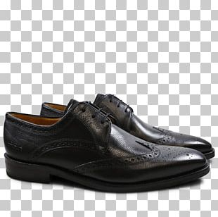 Slip-on Shoe Leather Derby Shoe Black PNG