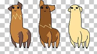 Llama Alpaca Dog Breed Pixel Art PNG