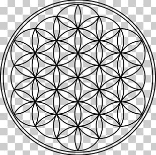 Overlapping Circles Grid Mandala Symbol Sacred Geometry PNG