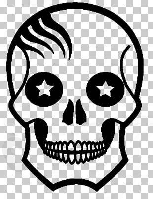 Calavera Skull Drawing PNG