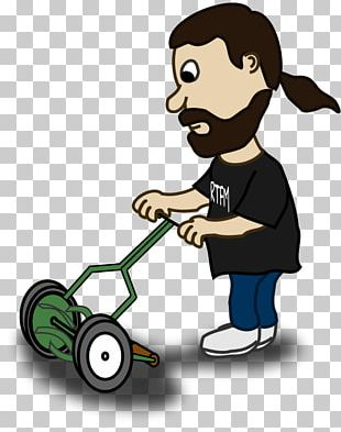 Lawn Mower Cartoon PNG