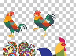 Rooster Chicken Chinese New Year PNG