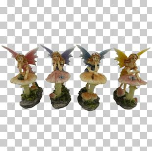 Figurine Statue Mushroom Fairy Collectable PNG