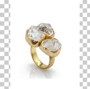 Herkimer Diamond Ring Jewellery Gold PNG
