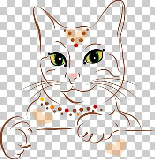 Cat Kitten Drawing Illustration PNG