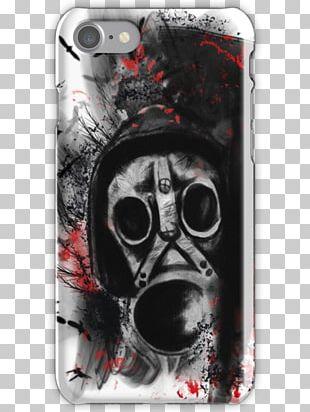 Trash Polka Drawing Gas Mask Tattoo PNG