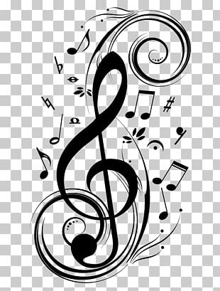 Musical Note Clef Musical Notation Wall Decal PNG