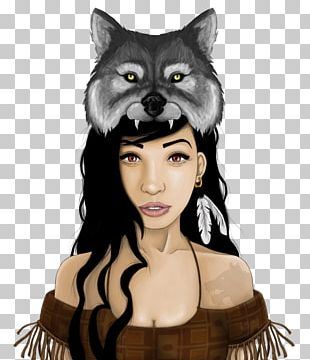 Gray Wolf Drawing Native Americans In The United States Art PNG