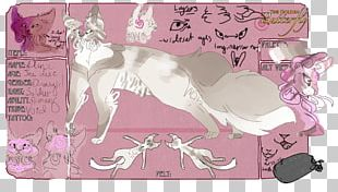 Paper Illustration Cartoon Mammal Pink M PNG