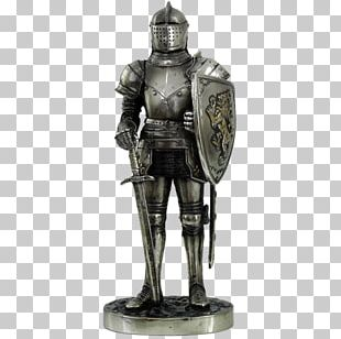 Middle Ages Knight Plate Armour Statue Figurine PNG
