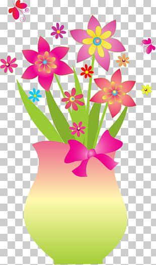 Flower Floral Design Vase PNG