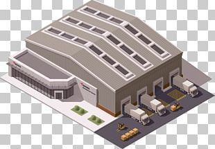 Warehouse Isometric Projection Building PNG