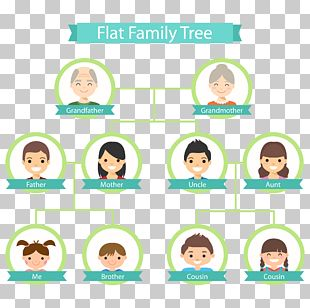 Family Tree Genealogy Flat Design PNG
