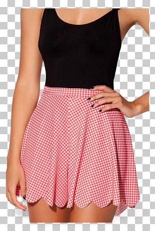 Polka Dot Waist Miniskirt Swimsuit Dress PNG