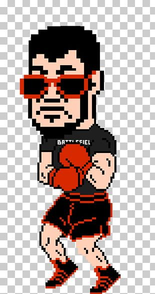 Punch-Out!! Pixel Art PNG