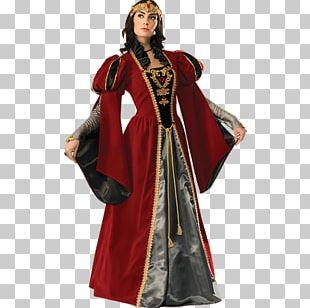 Middle Ages Renaissance Costume King Queen Regnant PNG