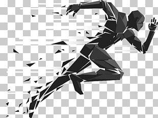 Running Sport Silhouette Illustration PNG
