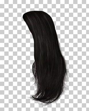 Black Hair Wig Hairstyle Long Hair PNG