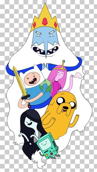 Finn The Human Jake The Dog Ice King Poster Drawing PNG