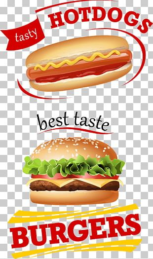 Hamburger Fast Food French Fries Cheeseburger Junk Food PNG