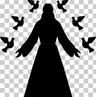 Silhouette Christian Cross PNG