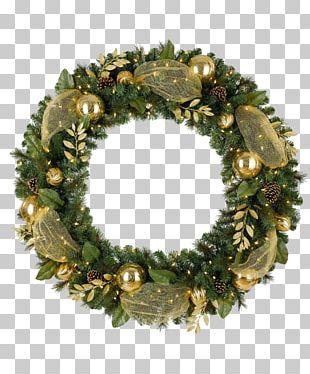 Wreath Artificial Christmas Tree Santa Claus PNG