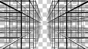 Black And White Abstract Art Geometry Quadro Pattern PNG
