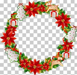 Christmas Wreath Flower PNG