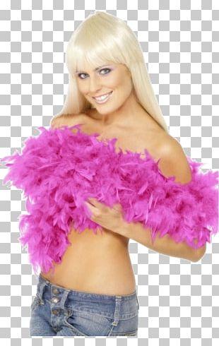 Feather Boa Fuchsia Costume Party PNG