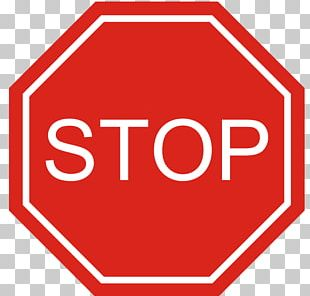 The Big Red Stop Sign Traffic Sign PNG
