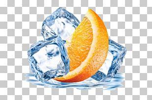 Orange Juice Ice Cube PNG