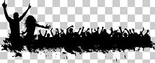 Silhouette Crowd PNG