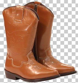 Cowboy Boot Riding Boot Brown Caramel Color PNG