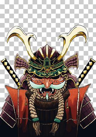 Japan Samurai Art Warrior Illustration PNG