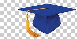 Square Academic Cap Graduation Ceremony Hat Blue PNG
