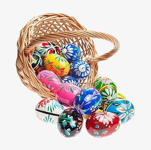 Colorful Easter Eggs PNG