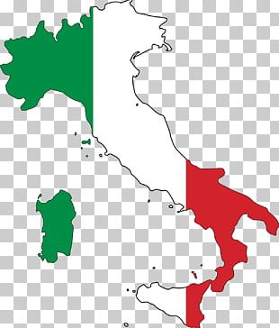 Flag Of Italy Map PNG