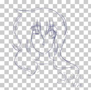 Drawing Line Art Human Hair Color Ear Sketch PNG