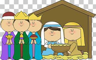 Nativity Scene Nativity Of Jesus Child Manger PNG