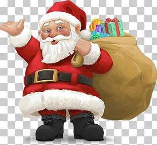 Santa Claus Christmas New Years Day Wish PNG
