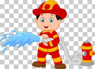 Firefighter Cartoon Fire Hydrant PNG