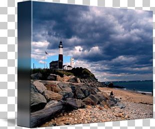 Montauk Point Light Lighthouse Gallery Wrap Sea Promontory PNG