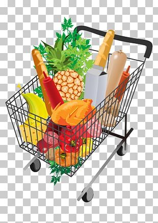Supermarket Shopping Cart Grocery Store PNG