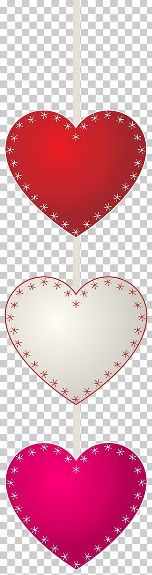 Heart Red Font Pattern PNG