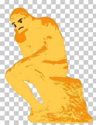 Emoji Thought The Thinker Sticker Internet Meme PNG