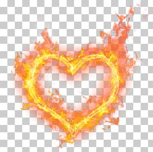 Heart Fire Flame Princess PNG
