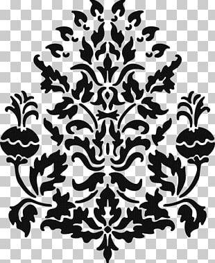 Stencil Damask Paper Paisley Pattern PNG