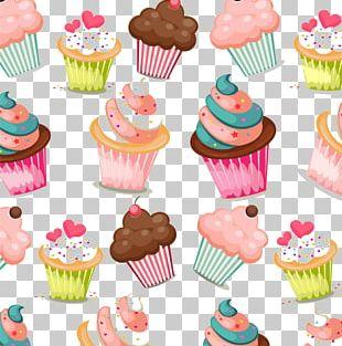 Cupcake Muffin Birthday Cake Pattern PNG
