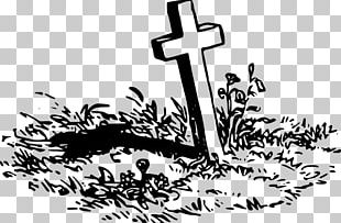 Grave With A Cross PNG
