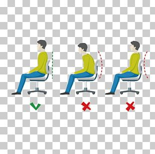 Sitting Neutral Spine Human Body Stock Illustration PNG